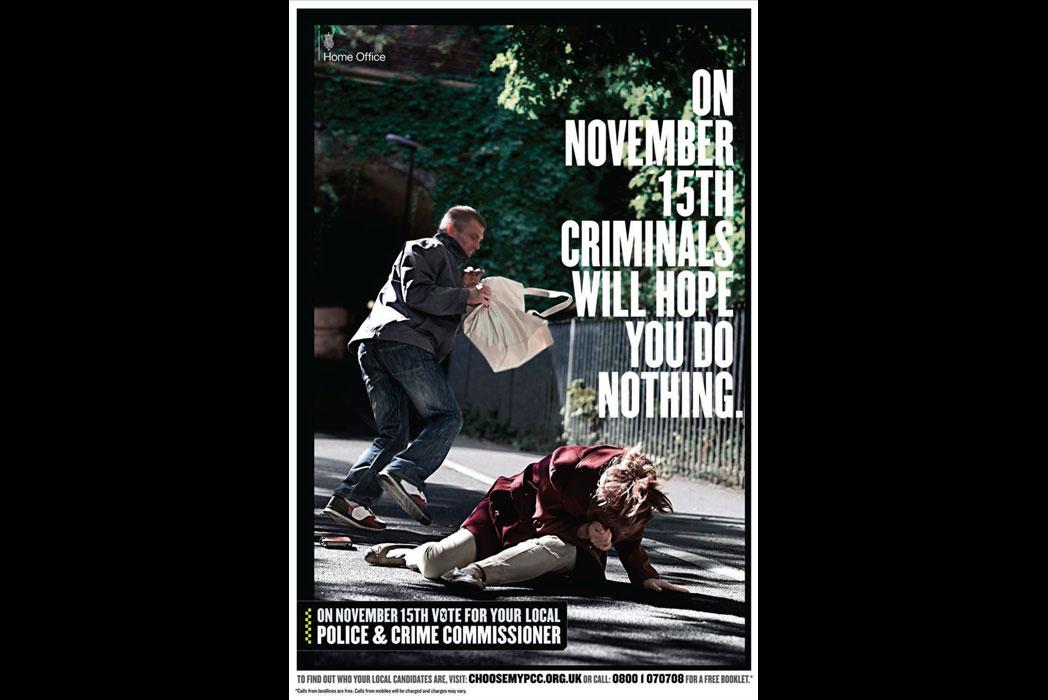 PCC campaign poster - mugger